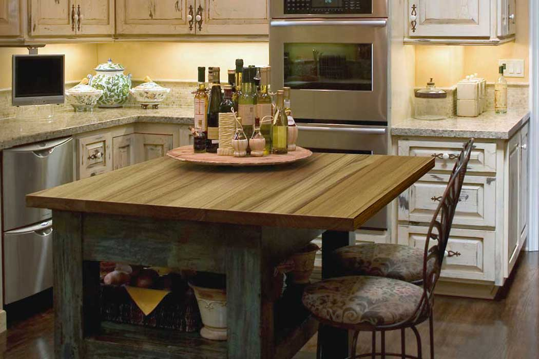 Picture of: Rustic Butcher Block Dining Room Table