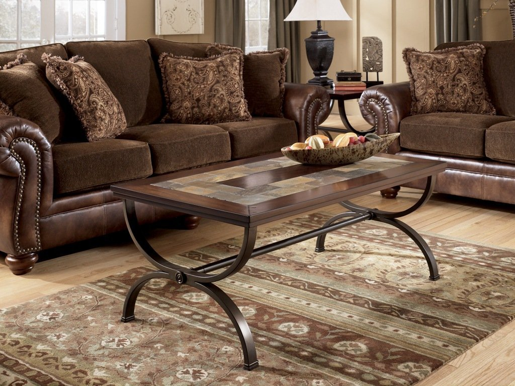 Picture of: Rustic Coffee Table And End Table Set