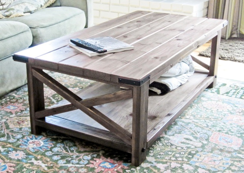 Picture of: Rustic Coffee Table Plans