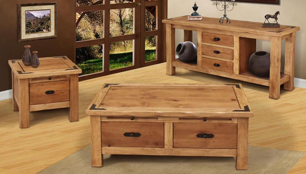 Picture of: Rustic Coffee Table Set