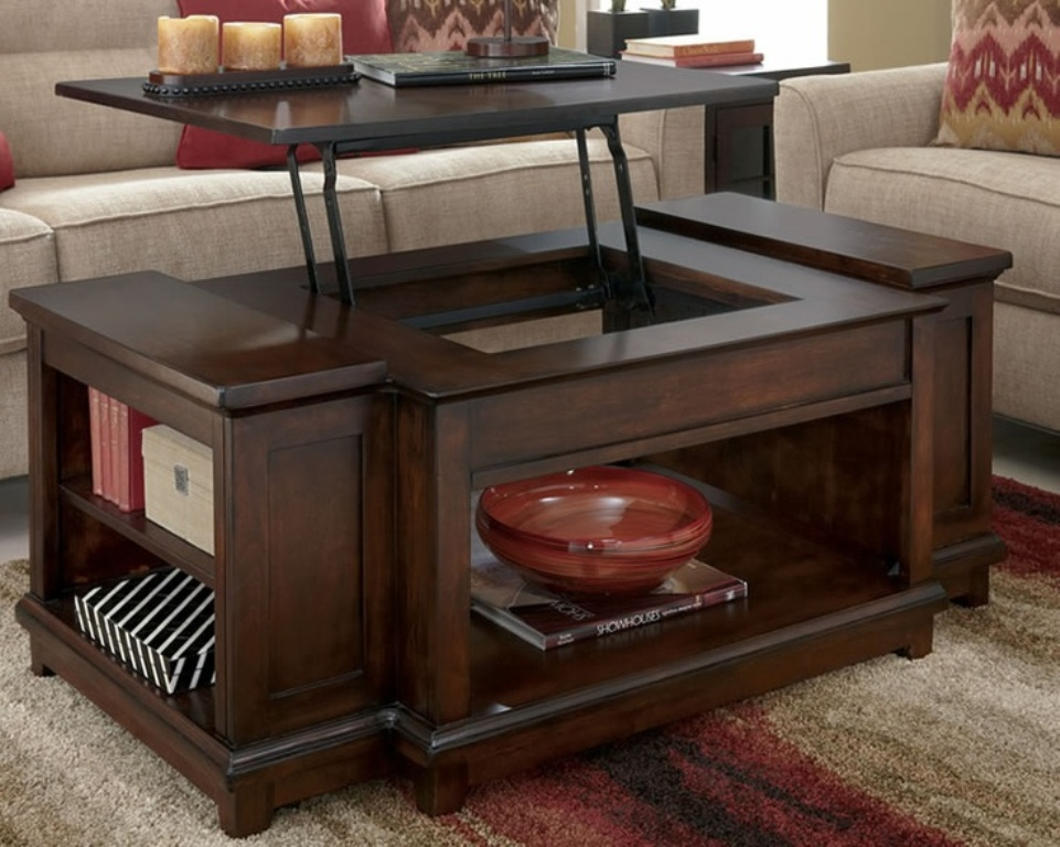 Picture of: Rustic Coffee Table With Lift Top