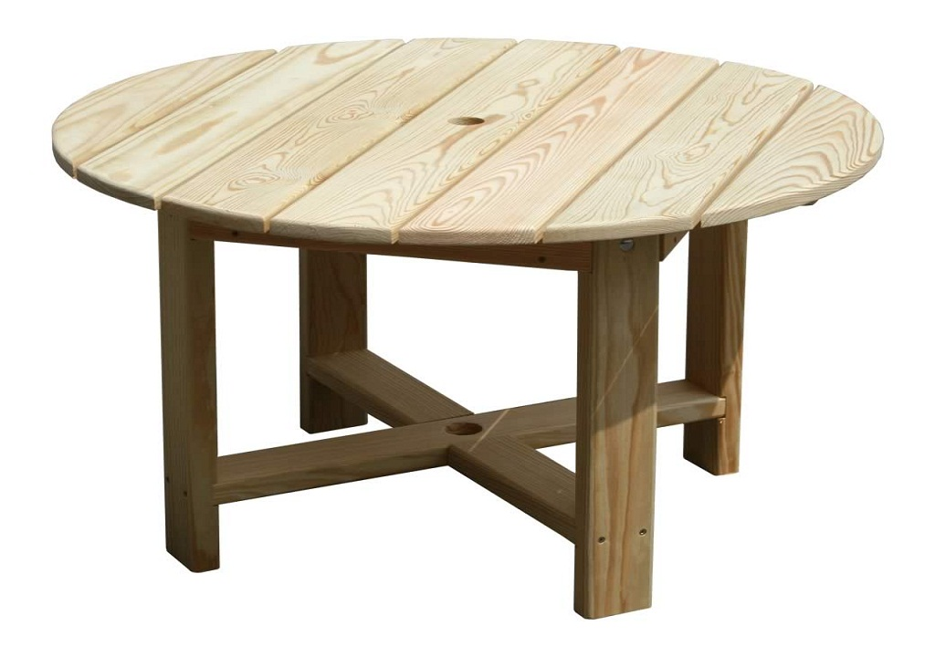 Picture of: Rustic Round Patio Table