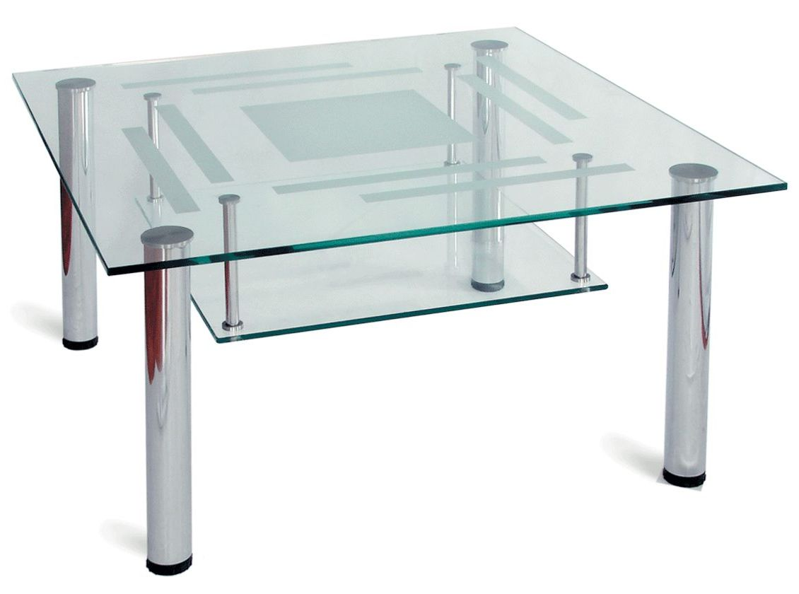 Image of: Shelf Glass Coffee Tables