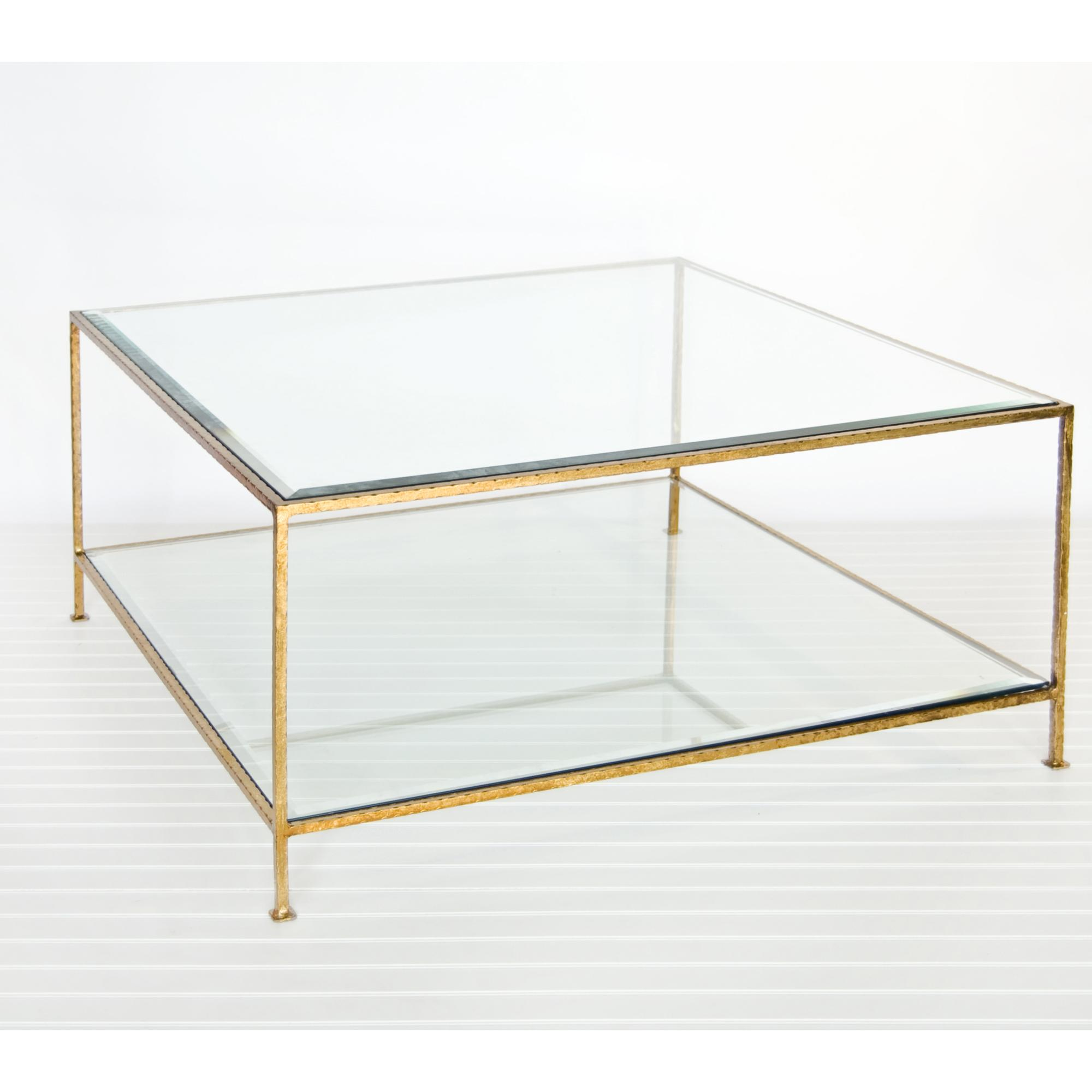 Image of: Silver Black Glass Coffee Tables