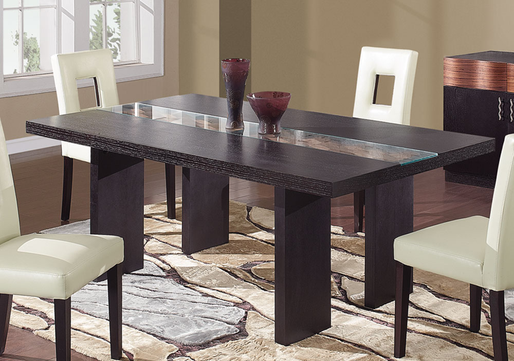 Image of: Simple Dark Wood Dining Table