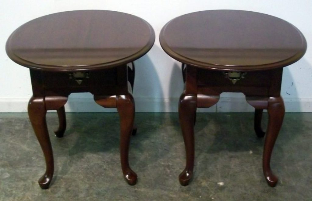 Image of: small cherry wood end tables vintage