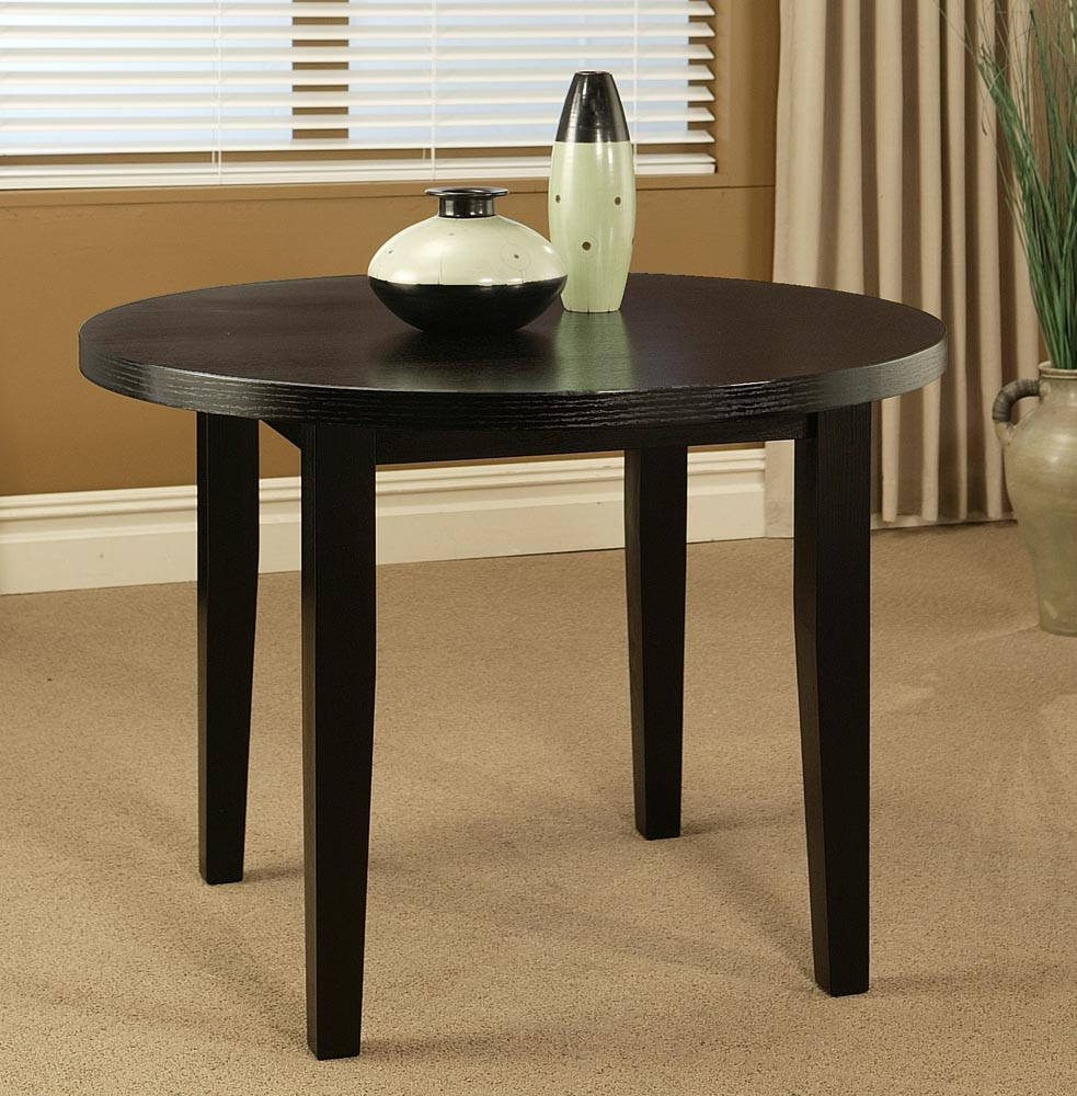 Picture of: Small round espresso dining table