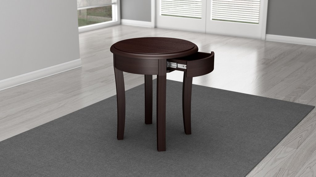 Image of: solid cherry wood end tables