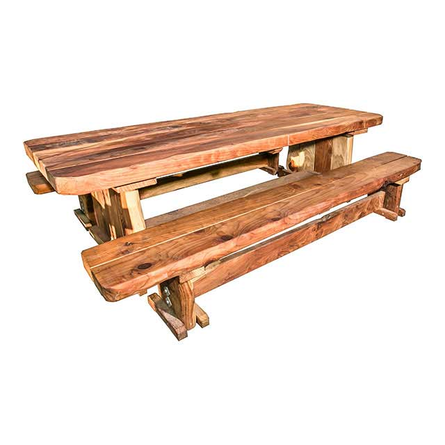 Picture of: Solid Wood Picnic Table