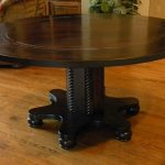 Solid wood round espresso dining table
