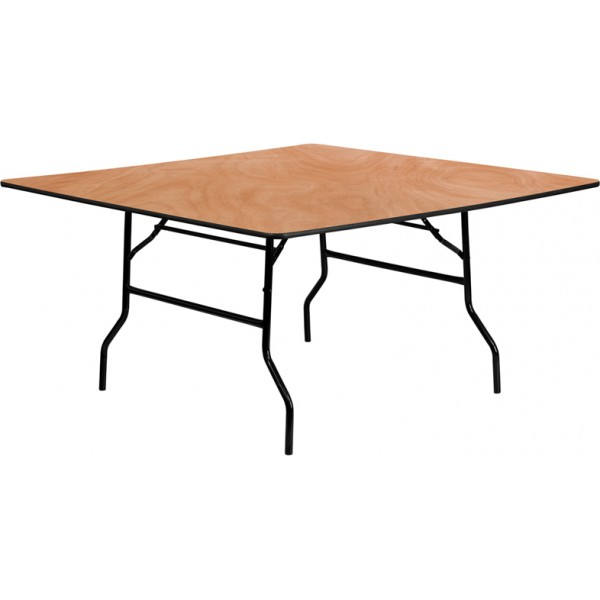 Image of: Square Wood Folding Banquet Table