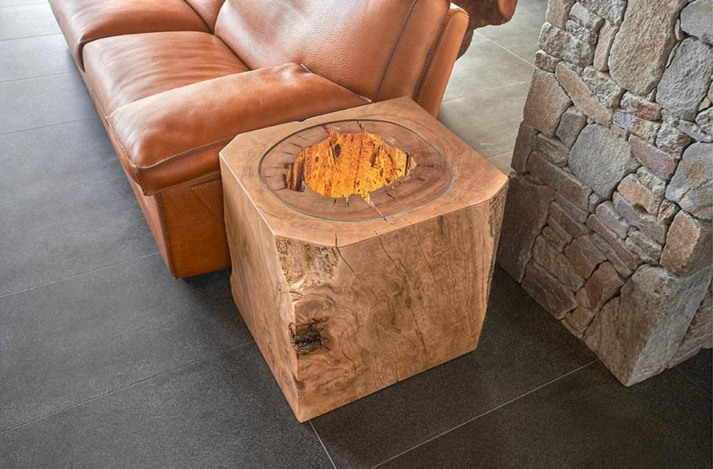 Image of: Stump End Tables and Coffee Tables