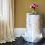 Stump End Tables And Lamps