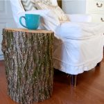 Stump End Tables With Storage