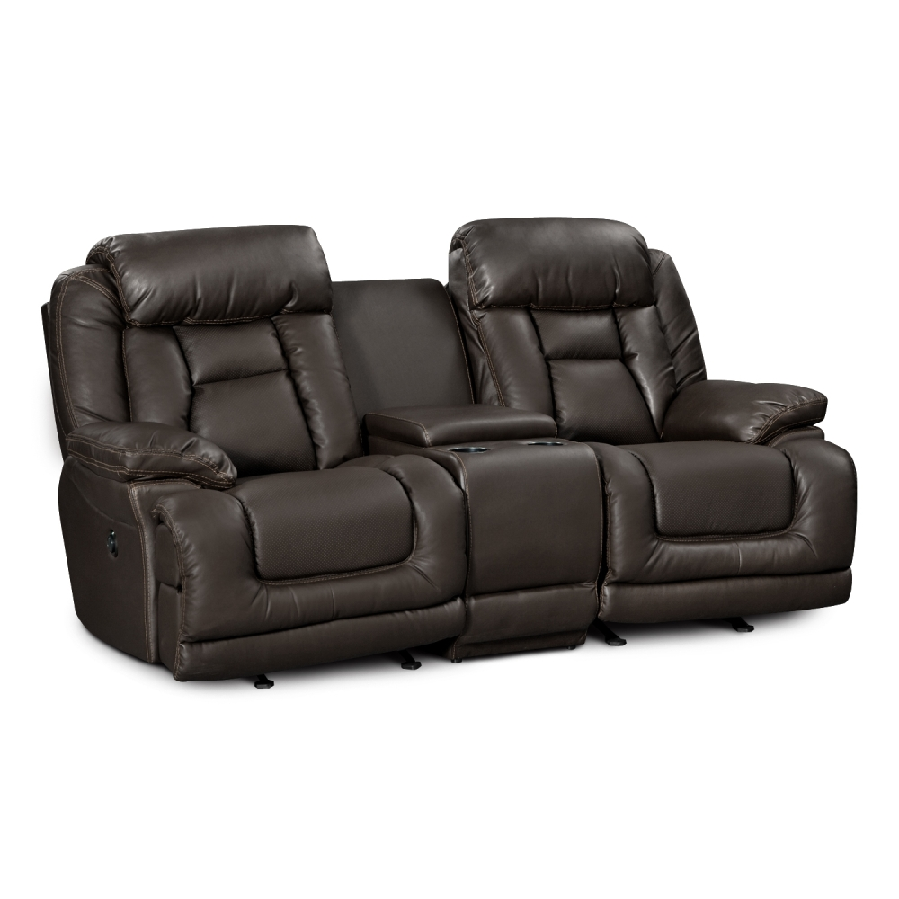 Picture of: Stylish Leather Reclining Loveseats
