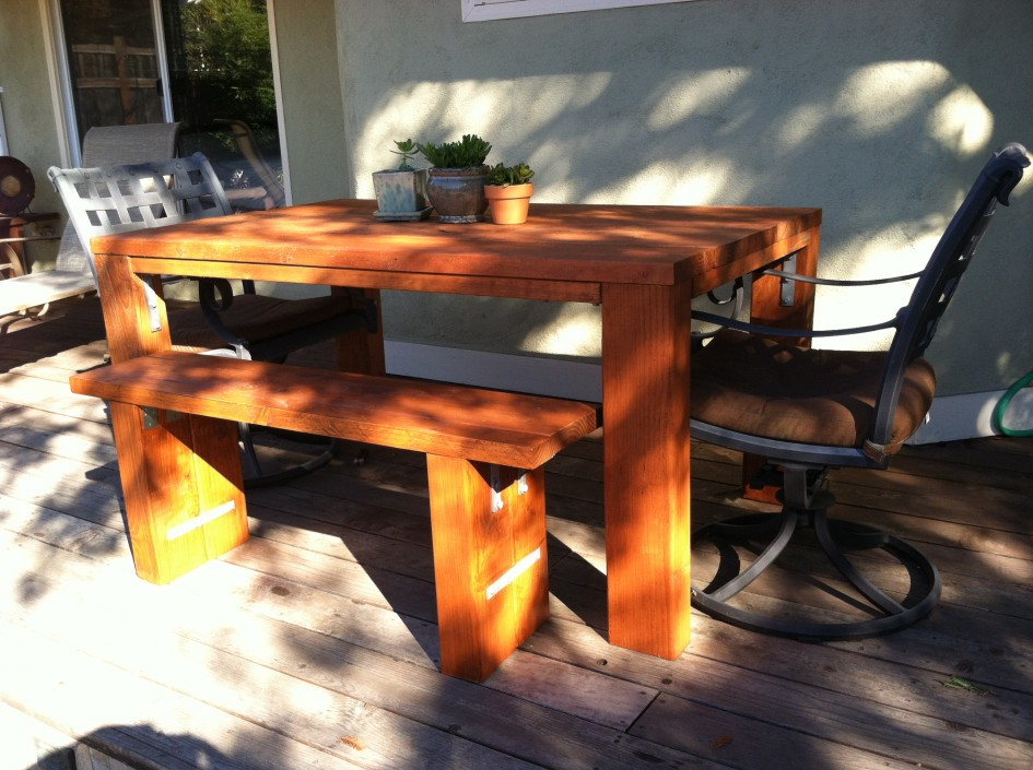 Picture of: Teak Wood Patio Table