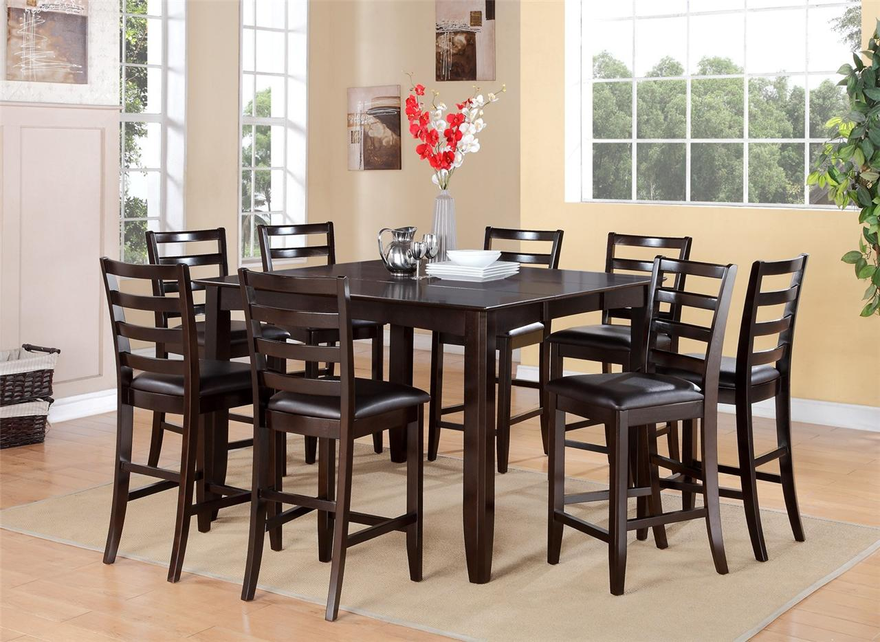 Image of: The Dark Wood Dining Table