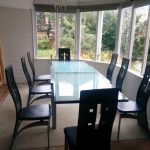 The Glass Extendable Dining Table