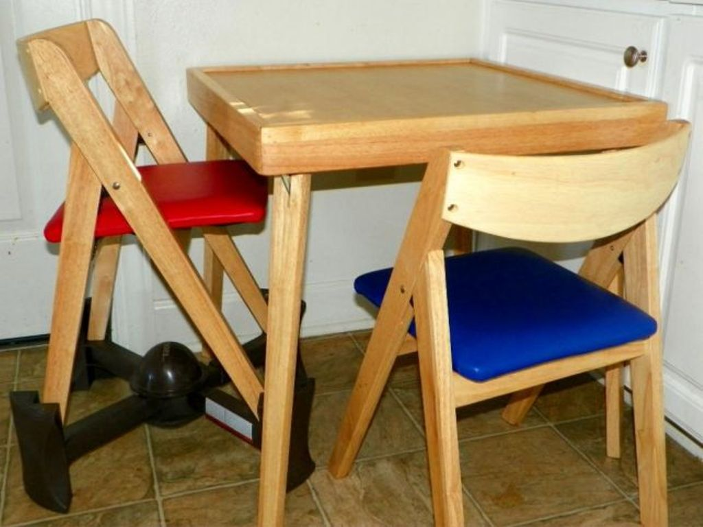 Picture of: toddler table and chairs wood bucket seat