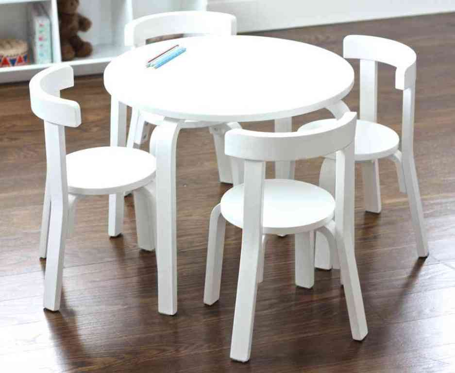 Image of: toddler table and chairs wood food