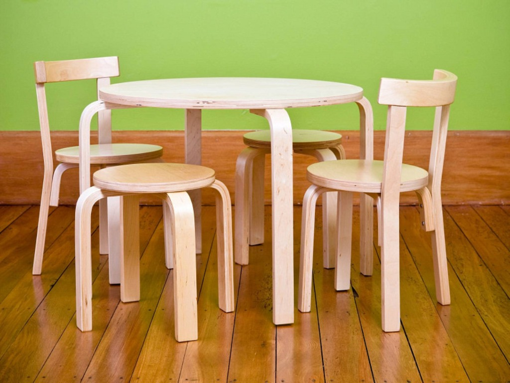 Picture of: Toddler Table and Chairs Wood Manners