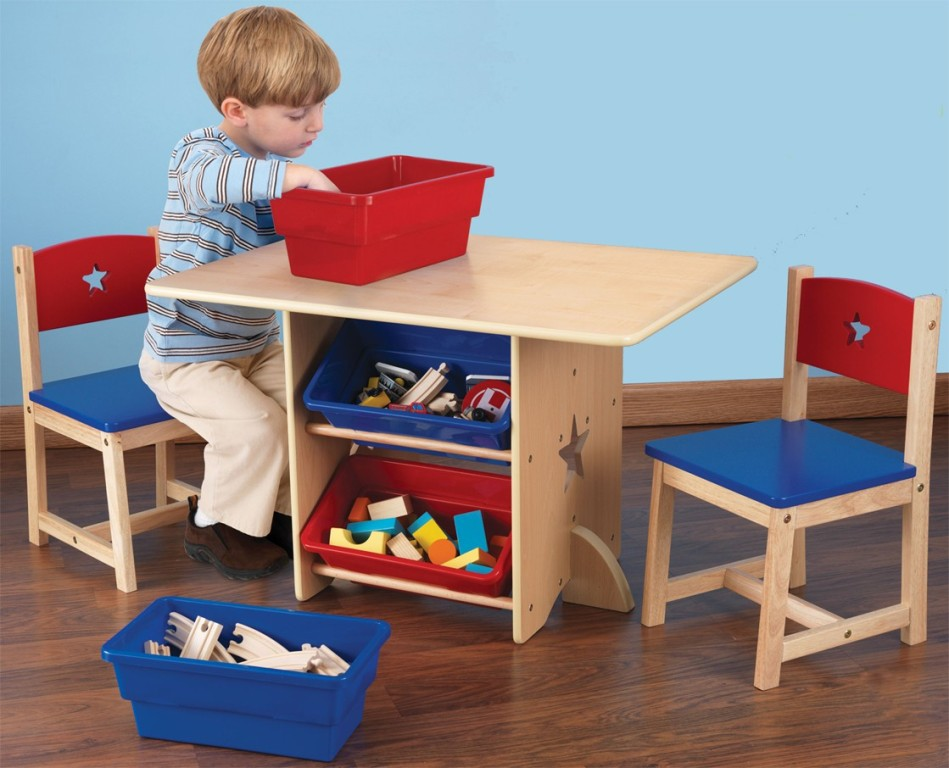 Image of: toddler table and chairs wood seat