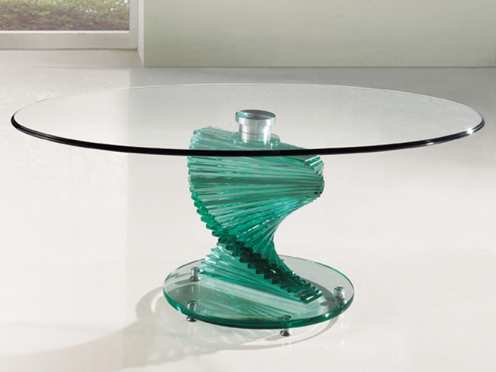 Twirl Clear Rectangle Glass Coffee Tables