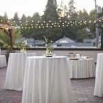 White Cocktail Table Linens