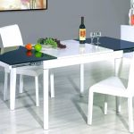 White Glass Extendable Dining Table