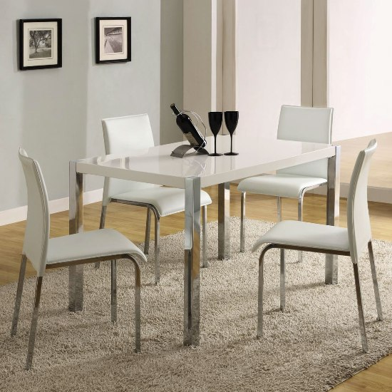 Image of: White Lacquer Dining Table Modern