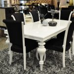 White Lacquer Dining Table Set