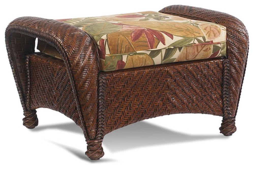 Picture of: Wicker Ottoman Coffee Table