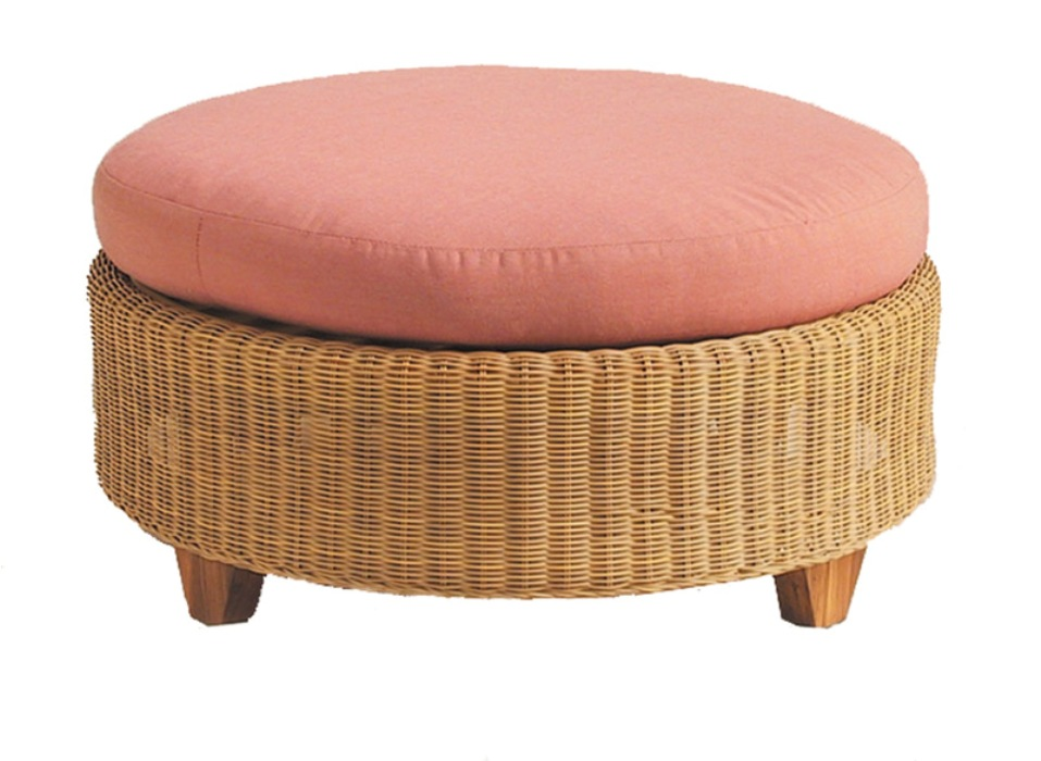 Image of: Wicker Ottoman Ideas