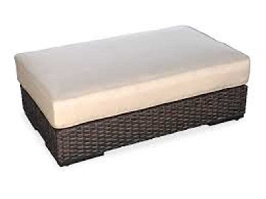 Image of: Wicker Ottoman Outdoor
