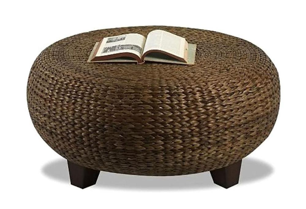 Image of: Wicker Ottoman Storage