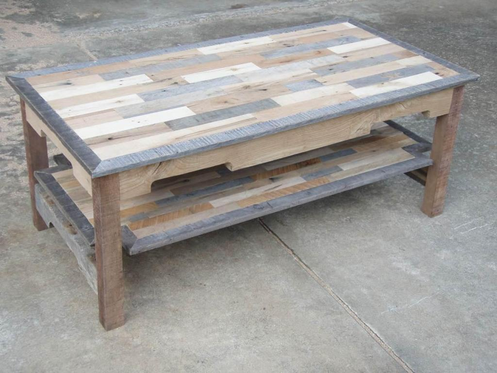 Image of: Wood Pallet Coffee Table Plans
