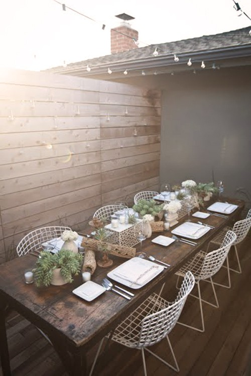 Picture of: Wood Patio Table Photo