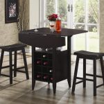 Wooden Bar Stool and Table Set