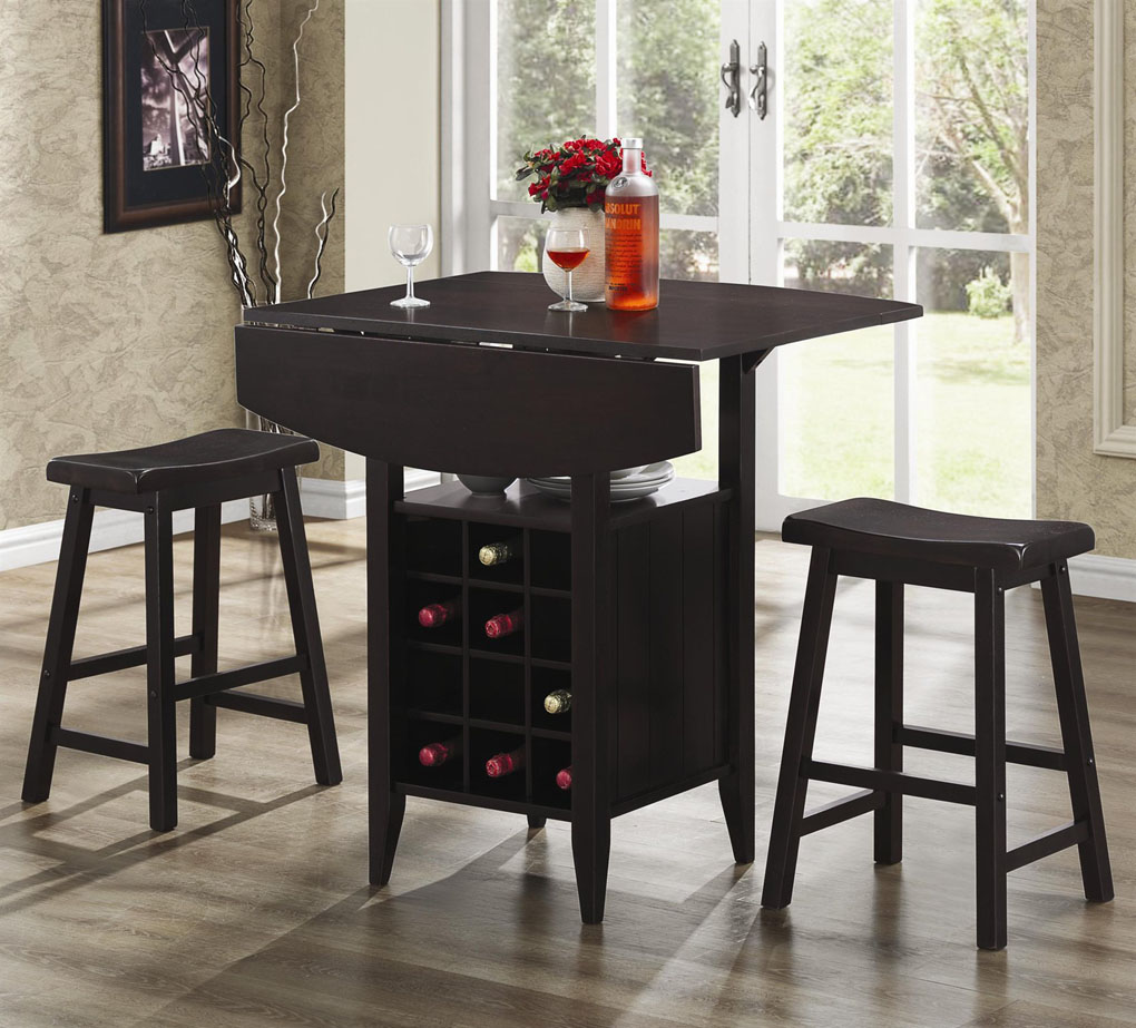 Image of: Wooden Bar Stool and Table Set