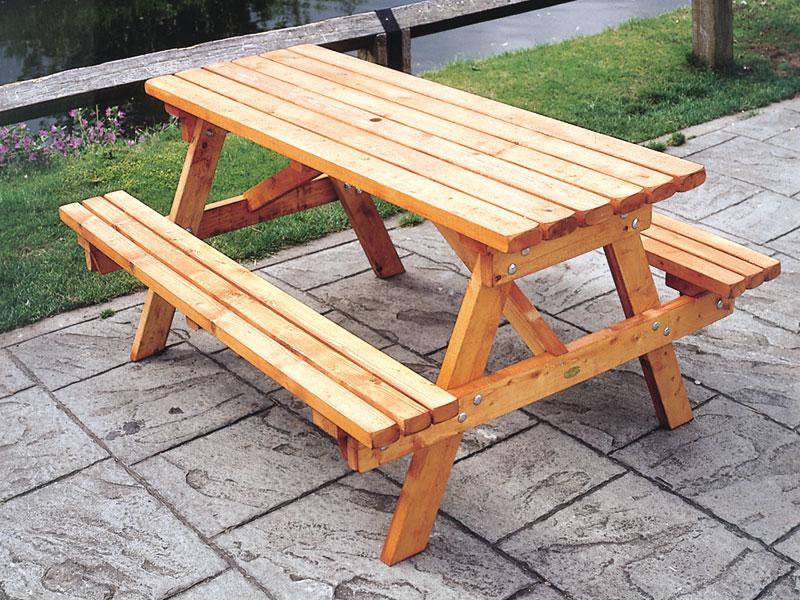Picture of: Wooden Picnic Bench