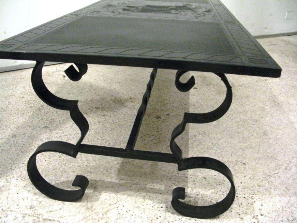 Image of: Wrought Iron End Tables Base