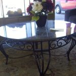 Wrought Iron End Tables Glass