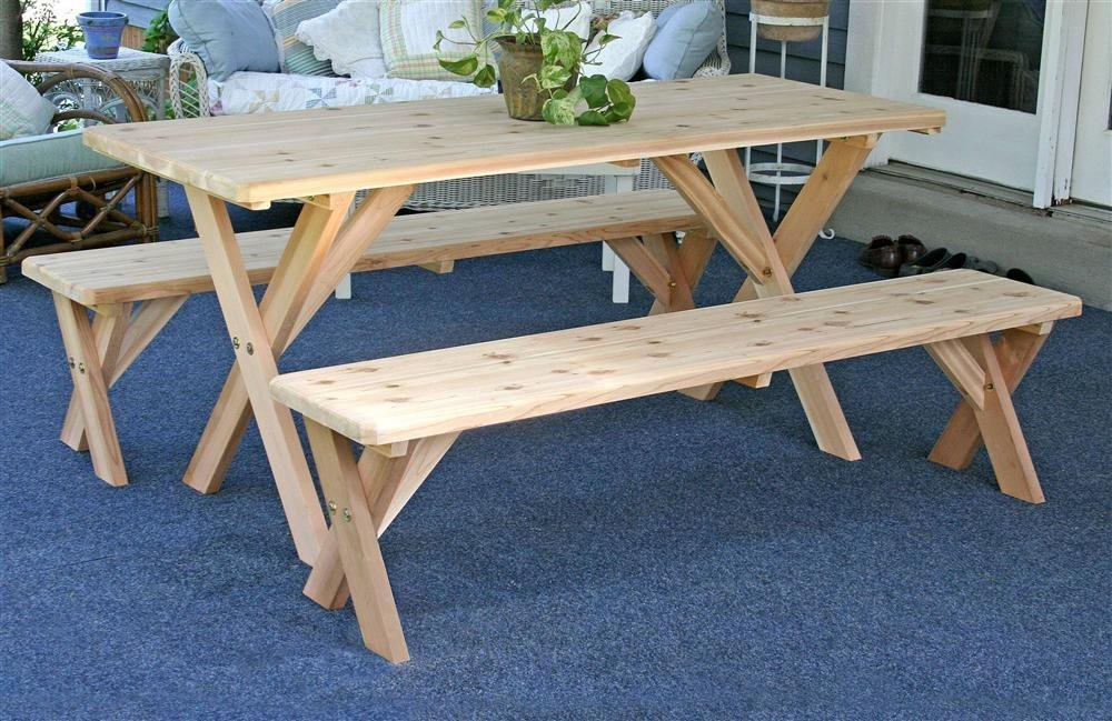 Picture of: Best Wood For Picnic table