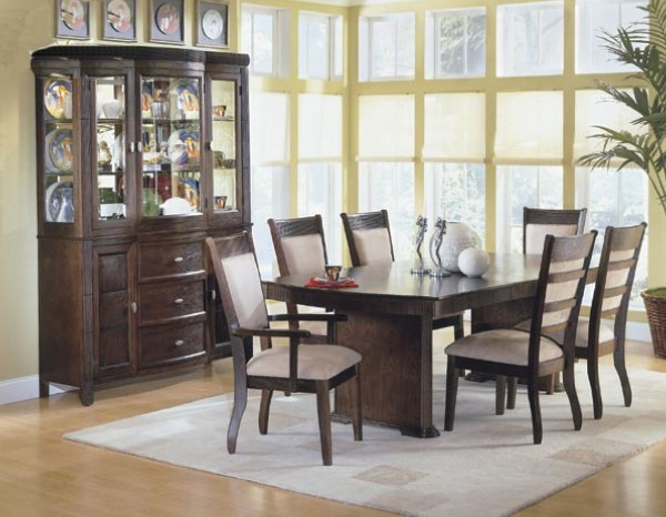Image of: black pedestal dining table