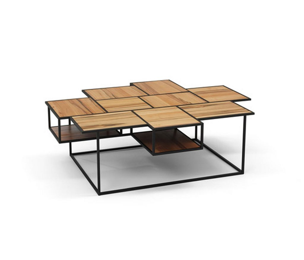 decorative wooden coffee table ideas with rectangular base