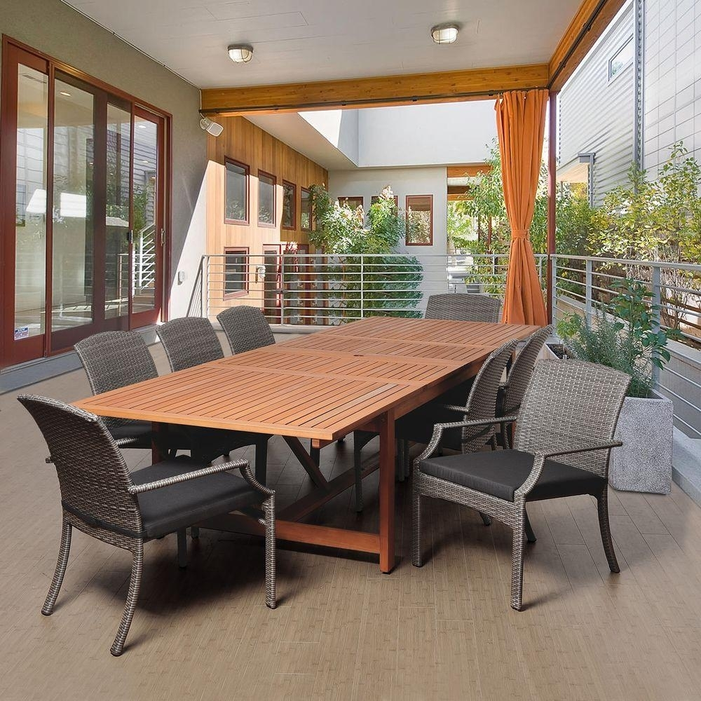 Image of: Extendable Table Patio Dining Furniture Patio Furniture The