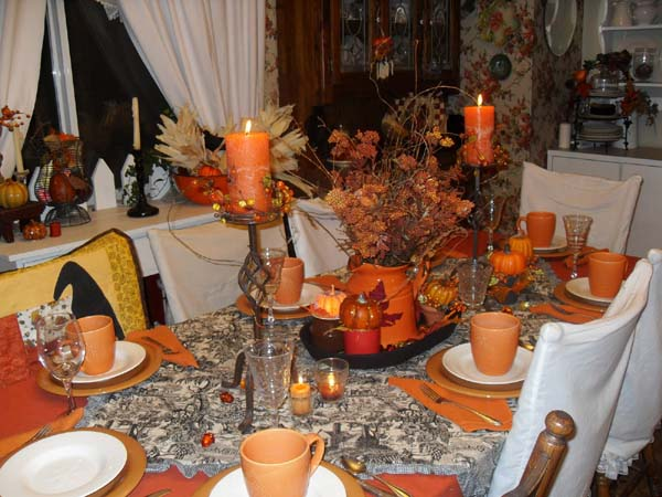 Image of: fall thanksgiving table decorations