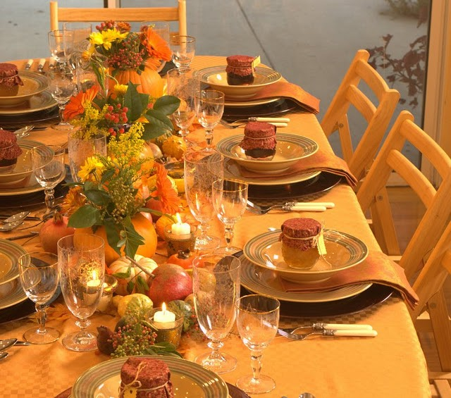 Image of: formal thanksgiving table decorations