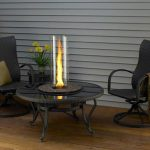 Glass Fire Pit Table Design Outdoor