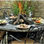 Glass Fire Pit Table Size